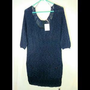 NWT Free People True Navy Sweater Dress sz Medium